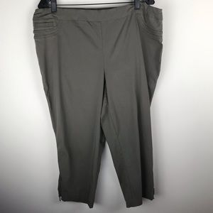 Dalia Pull On Capri Elastic Pants 18W M426